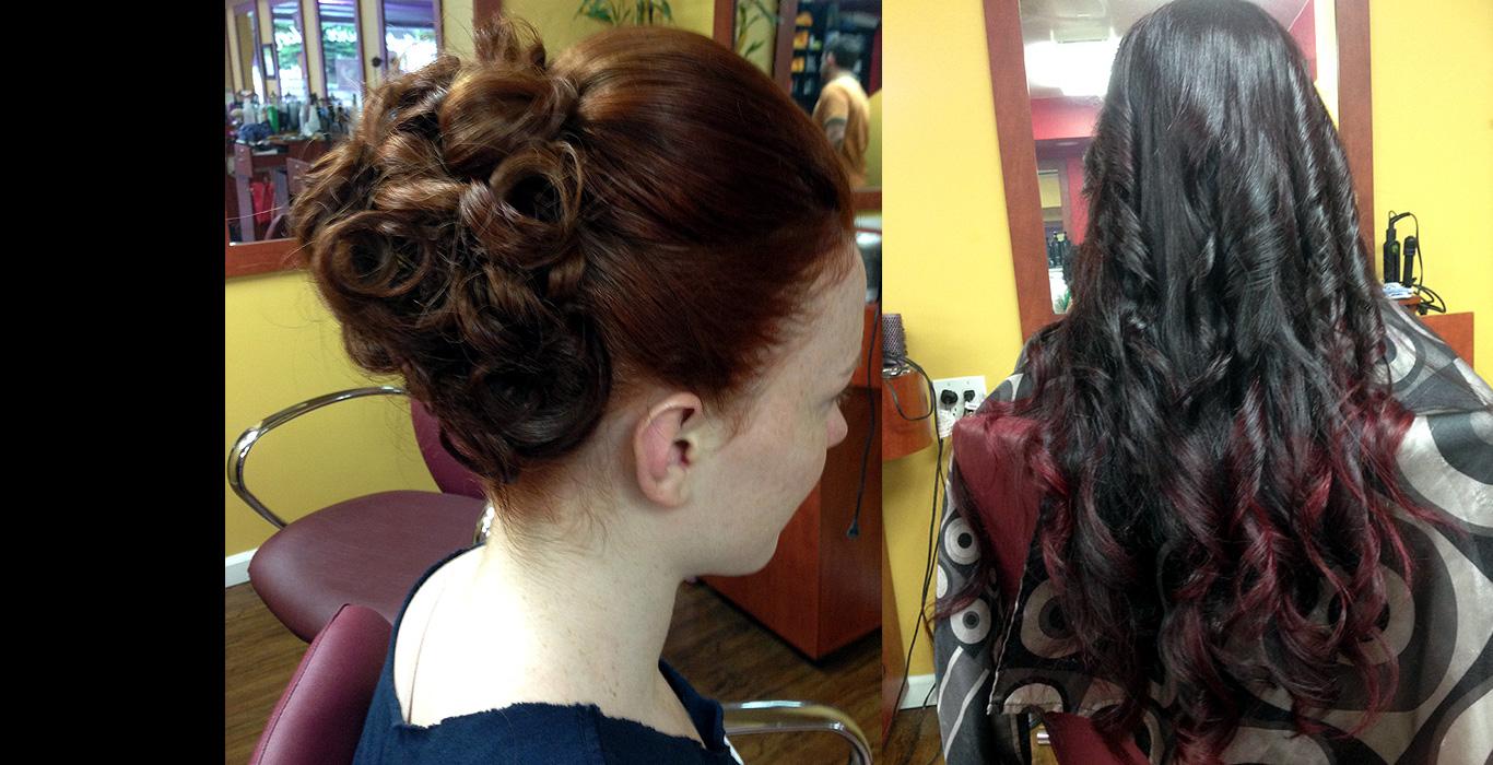 Hair perm at Hair Hut Studio